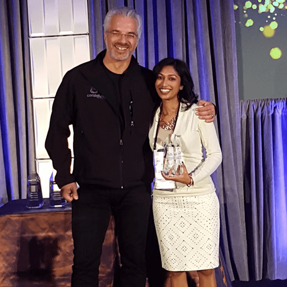Holger Mueller, VP & Principal Analyst at Constellation Research honored Asha on stage last night.